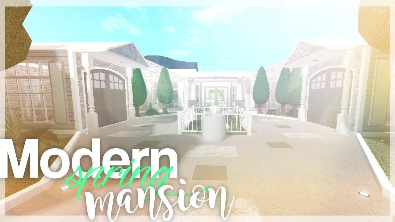 Modern Spring Mansion Bloxburg No Gamepass Youtube