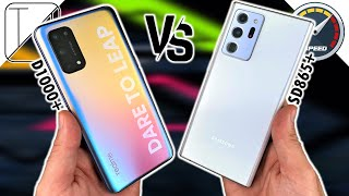 Realme X7 Pro vs Galaxy Note 20 Ultra Speed Test