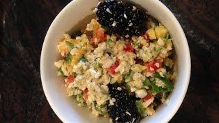 Raw Blackberry Mango And Almond Salad