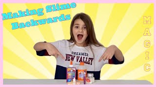 Making SLIME in REVERSE Backwards   MAGIC SLIME MAKING   Bella Mix
