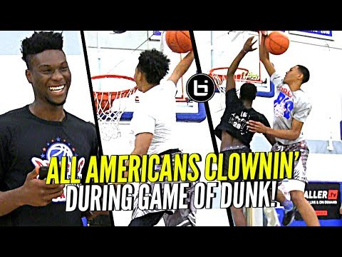 All American Players Clownin' On Each Other During Game Of DUNK Horse! Who Had The Best Dunks?