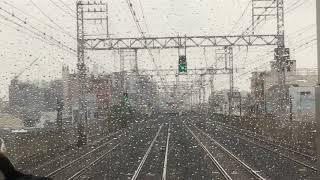 南海線 新今宮駅から堺駅 雨の前面展望