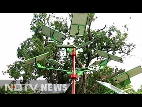 A solar panel tree designed by csir for your gardens youtube a solar panel tree designed by csir for your gardens sciox Image collections