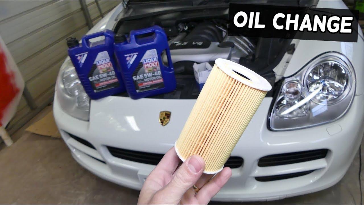 How To Change Engine Oil On Porsche Cayenne S 45 V8