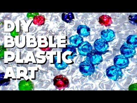 [Let's Craft] DIY Bubble Plastic Art