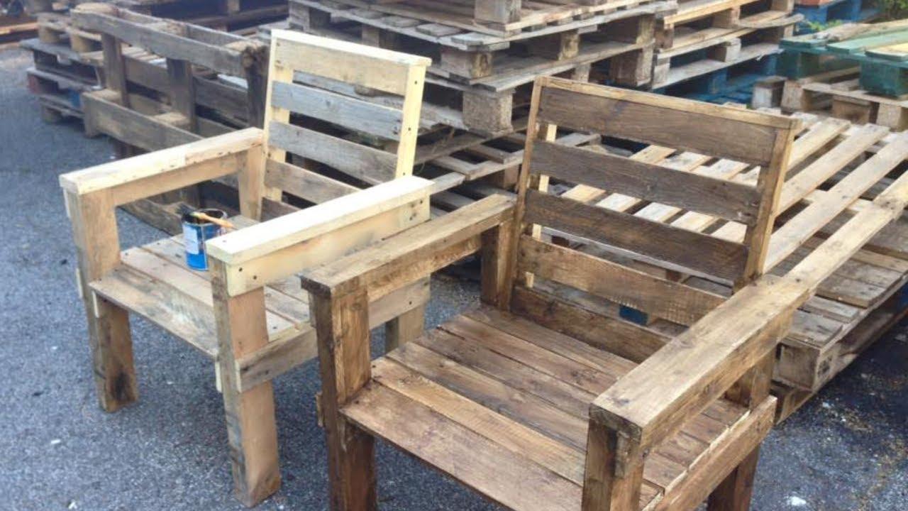 Pedana Di Legno Per Giardino poltrone da giardino con pedane riciclate - recycle wooden pallets