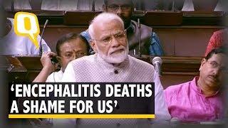 PM Modi in Rajya Sabha: Encephalitis is Our Biggest Failure