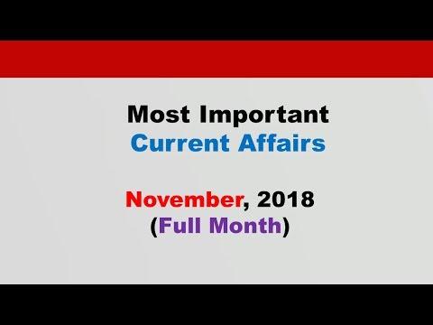 Compilation: November 2018  Current Affairs[English]