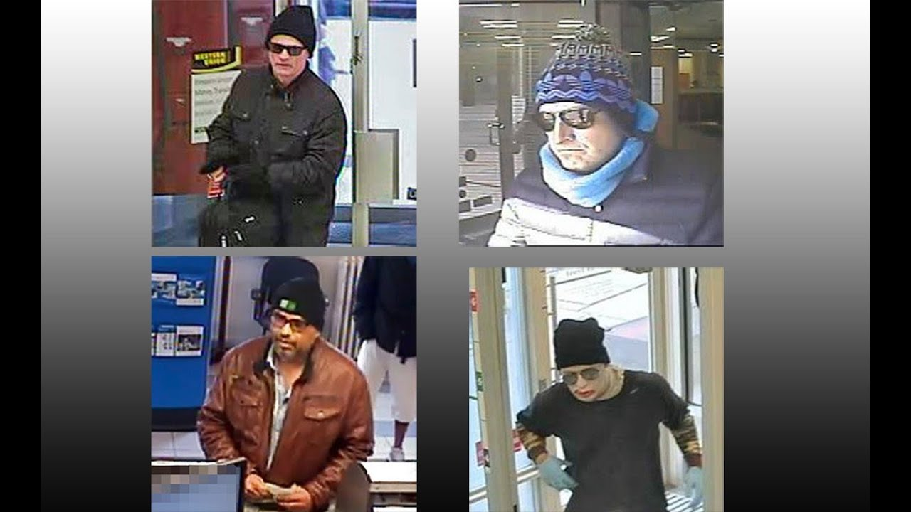 4 Bank Robbery Suspects to ID By @TorontoPolice Hold Up Squad