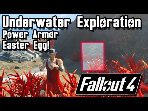 Far Harbor Underwater Ocean Exploration ! Power Armor Easter Egg! | Fallout 4 Far Harbor