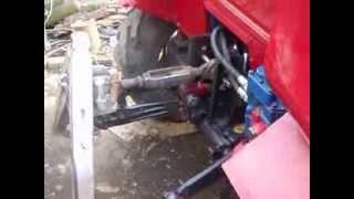 Самодельный трактор. Работа гидравлики