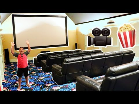 MOVIE THEATRE HOUSE TOUR!