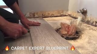 🔥 🚽 Install Vinyl Plank Floor Around Toilet 🚽🔥