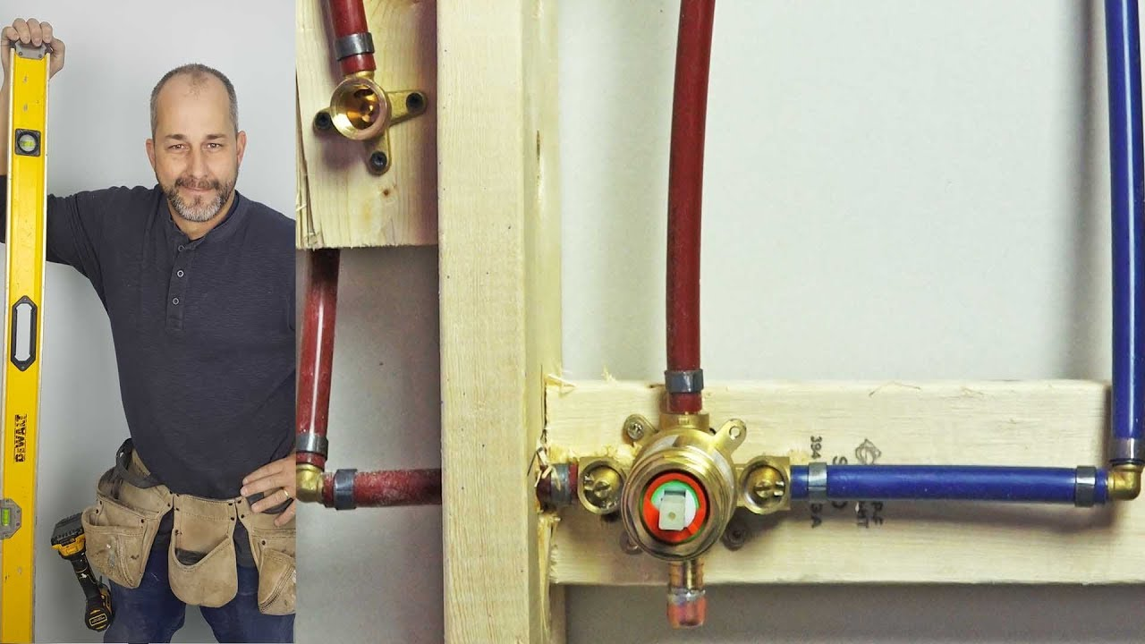 to pex diy shower how youtube watch using a valve install plumbing