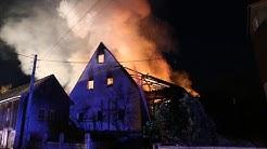 Großbrand richtet hohen Schaden an - Bachfeld 21.11.16