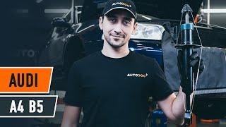 Как се сменят Буфери и маншони за амортисьори на AUDI A4 (8D2, B5) - онлайн безплатно видео