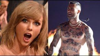 Famous People Reacting to Adam Levine!!!! (Taylor Swit, Beyoncé, Nicki Minaj...)