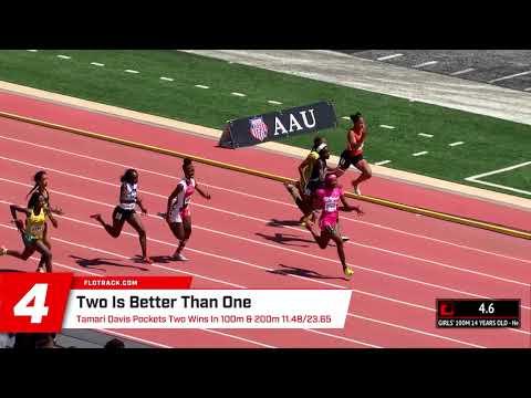 AAU Junior Olympic Games Top Ten Performances