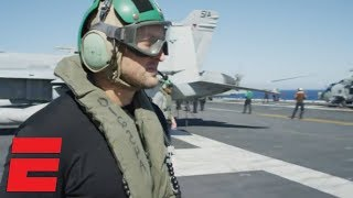 Tim Tebow sets sail on USS Carl Vinson | Veterans Day