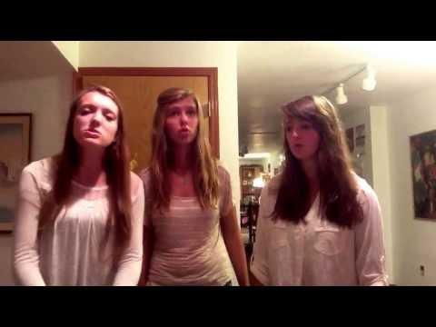 Acapella trio singing 1234 by Plain White T's