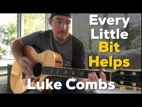 Every Little Bit Helps | Luke Combs | Beginner Guitar Lesson