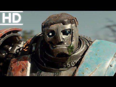 Çelik Yumruklar | Atom Vs Metro Dövüş Sahnesi (2/3) | (1080p)