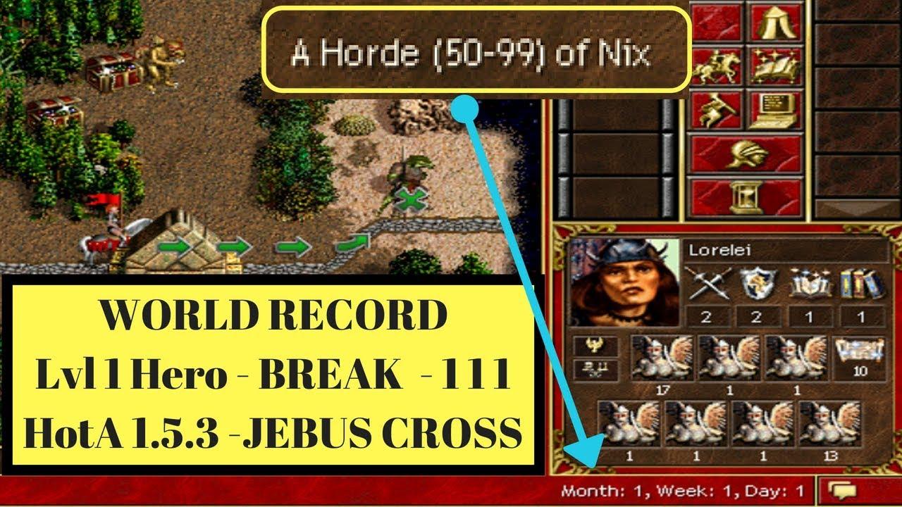 Heroes 3: Hota 1 5 3 - World Record - 111 Break - Lvl 1