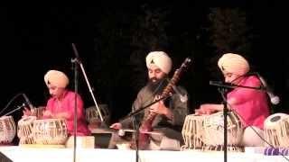 Akaaljot Singh (10)  & Satpreet Singh (10)  twins with Bhai Baljeet Singh Playing Mat Taal