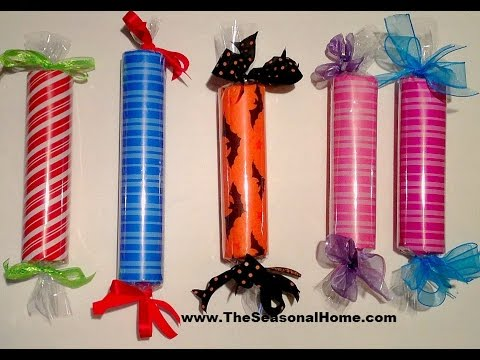 how to make large faux candy christmas decorations - Candy Christmas Decorations