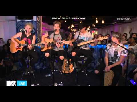5 Seconds Of Summer MTV Live Stream  Performin Amnesia (Acoustic Version)