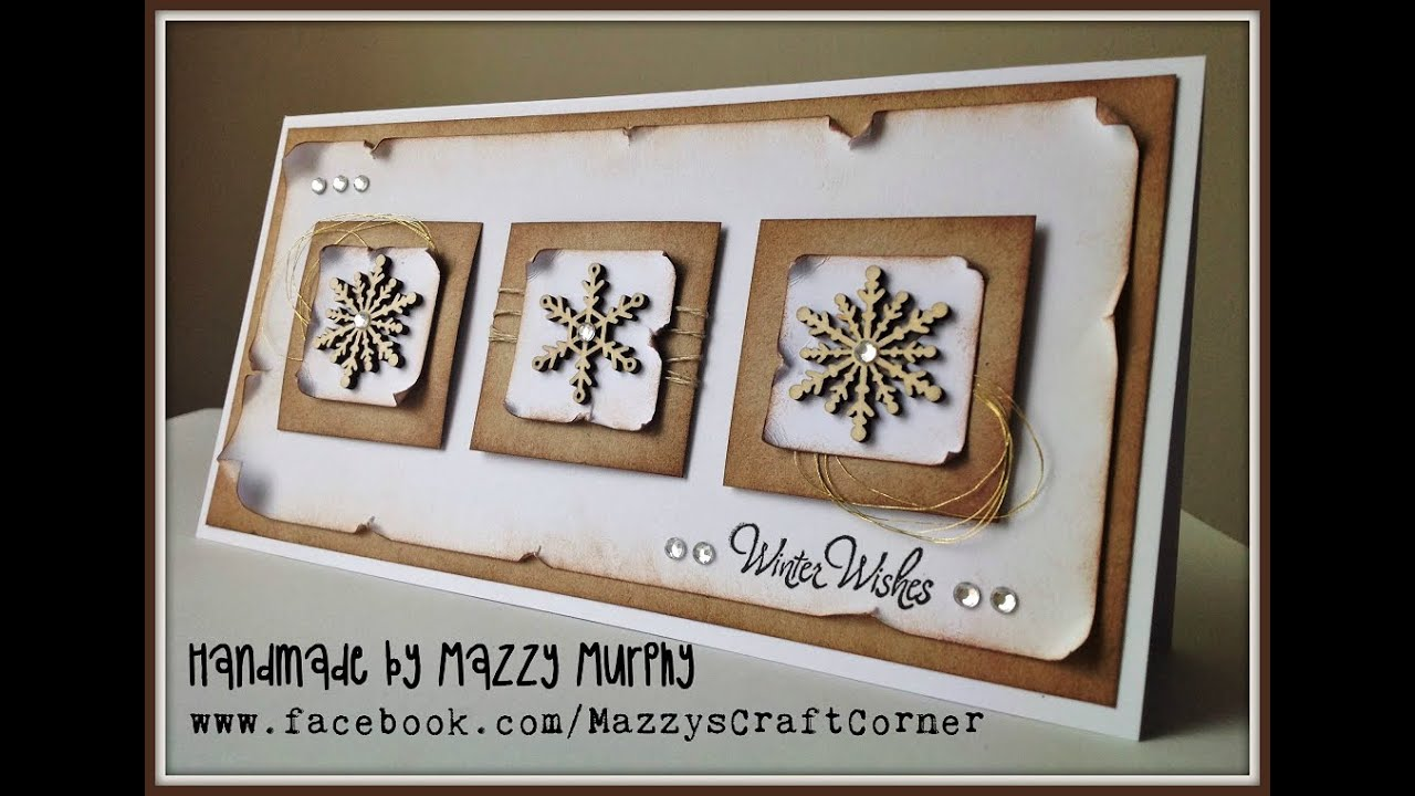 Winter Holidays Card In Vintage Style Using Snowflake