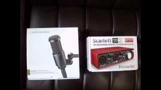 at2020 xlr scarlett 2i2 usb interface audio test