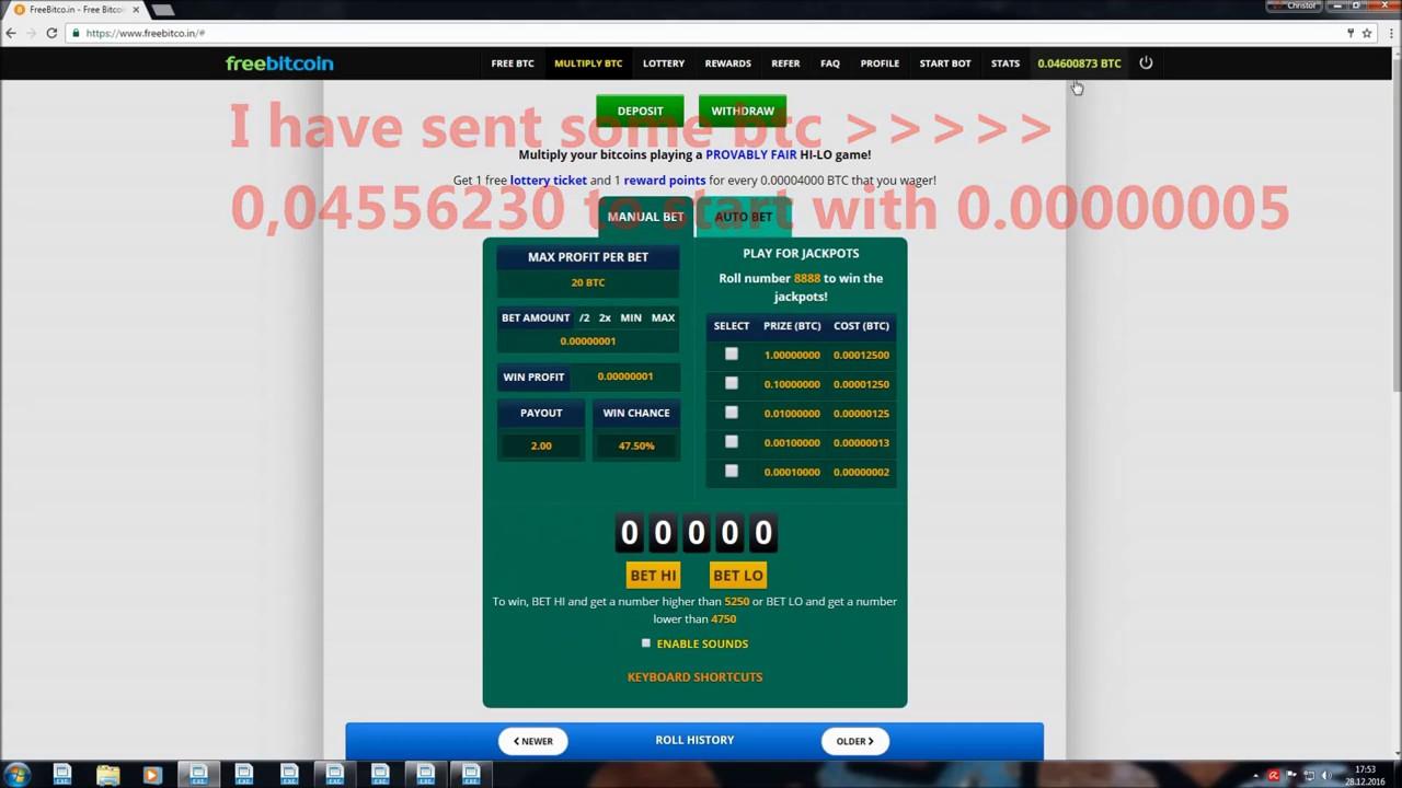 bitcoin faucet bot - freebitco in bot NEW2017 - YouTube