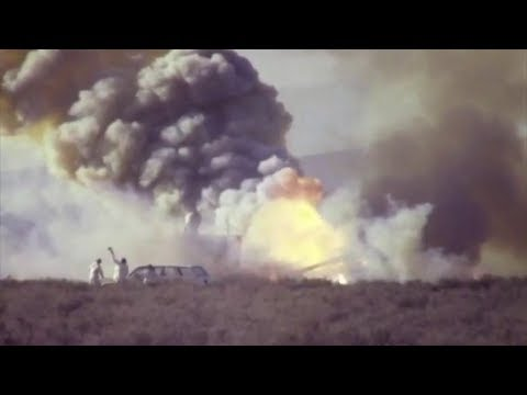 Drone Explodes During 1987 Test At White Sands Missile Range