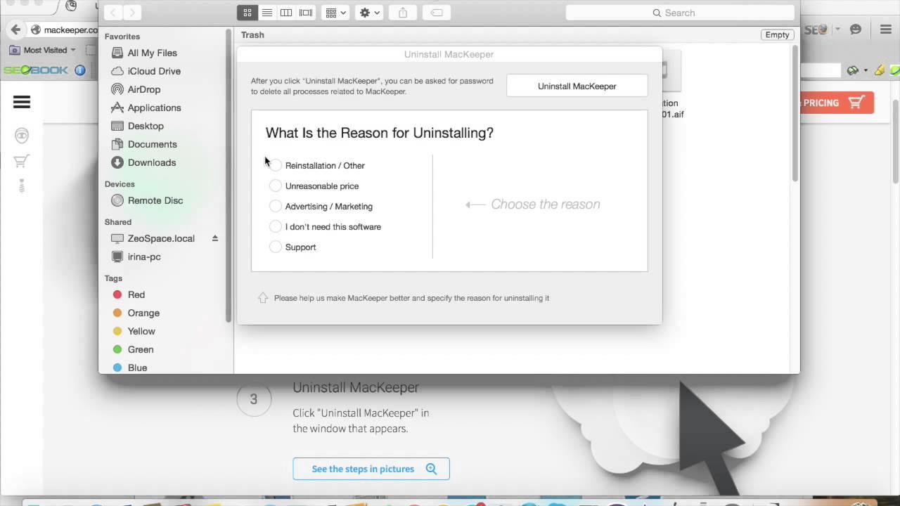 How do i remove mackeeper malware from my mac