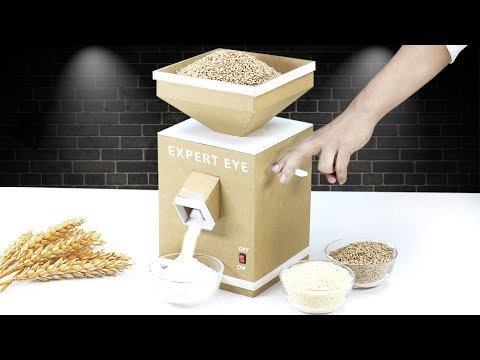 How To Make Grain Mill From Cardboard & PVC ! Wheat and rice Mill