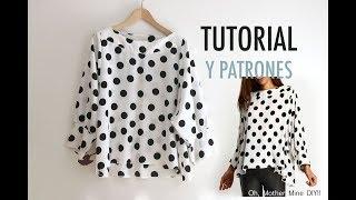 Costura y patrones de blusa para mujer: como hacer paso a paso esta blusa. Los patrones los tenéis disponibles y gratis en el blog. En este blog de costura y ...