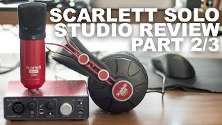 focusrite scarlett studio cm25 condenser mic review test