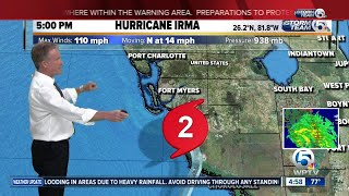 5pm Hurricane Irma update: 9/10/17