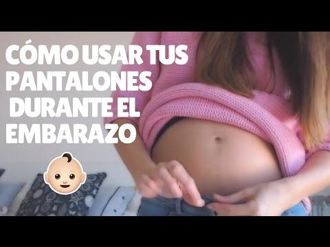 b32c3605f PREGNANCY  Cómo usar tus pantalones durante el embarazo - YouTube