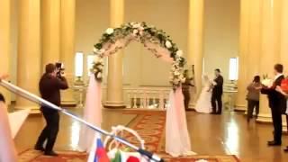 С невесты в загсе упало платье