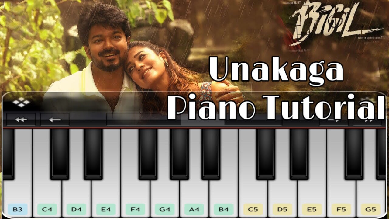 Unakaga Piano Tutorial | Bigil | Tamil Piano