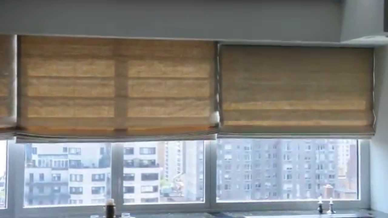 Motorized roman shades nyc installation of roman for How to install motorized blinds