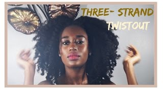 Three Strand Twist Out on Long Natural 4B hair | Chadel Mathurin