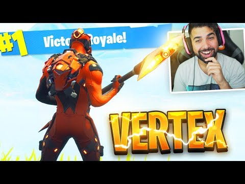 The New Fortnite VERTEX SKIN Gameplay..