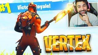 The New Fortnite VERTEX SKIN Gameplay..