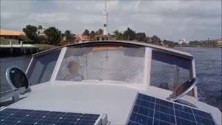 Cruising on a Skoota 28 power catamaran through the Fort Lauderdale Canals