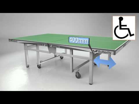 Butterfly Centrefold Rollaway Table Tennis Table