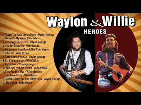 Waylon Jennings and Willie Nelson Greatest Hits (Full Album) - Best Songs of Jenning & Willie Nelson