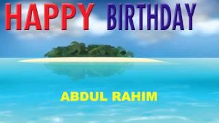 AbdulRahim   Card Tarjeta - Happy Birthday